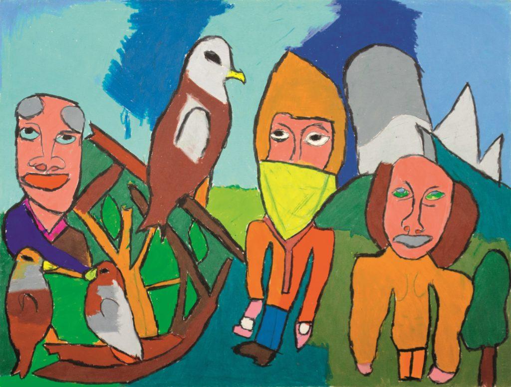 Jean-Jacques Bonnier, Sans titre, 2012, pastel gras sur papier, 55 x 73 cm