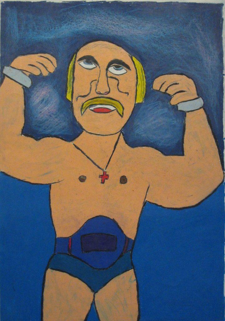 Jean-Jacques Bonnier, Sans titre, nd, pastel gras sur papier, 73 x 55 cm
