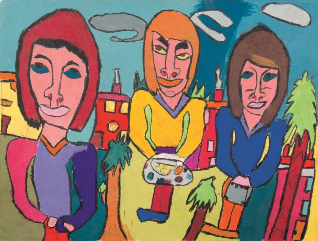Jean-Jacques Bonnier, Sans titre, 2011, pastel gras sur papier, 55 x 73 cm