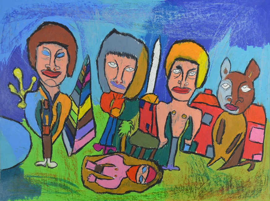 Jean-Jacques Bonnier, Sans titre, 2014, pastel gras sur papier, 55 x 73 cm