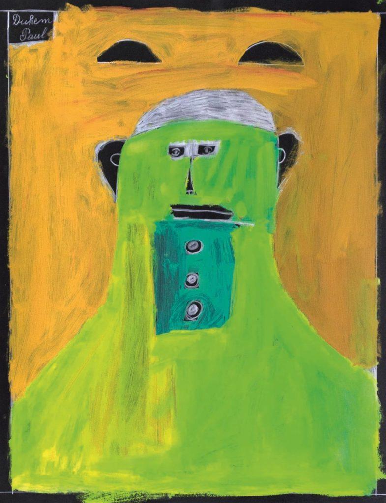 Paul Duhem, sans titre, 1999, crayon blanc et peinture à l
