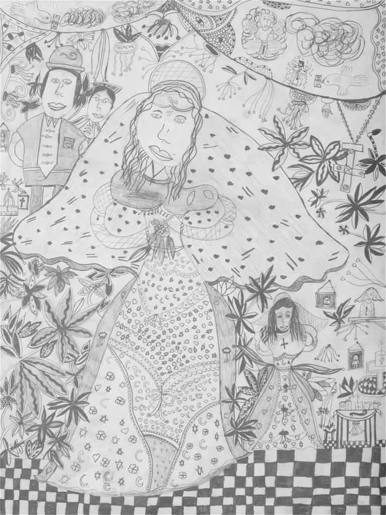 Christelle Hawkaluk, sans titre, 2006, crayon gris sur papier, 73 x 55 cm