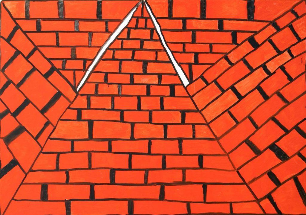 Louis Van Baelens, sans titre, 2007, peinture à l'huile sur toile, 70 x 100cm