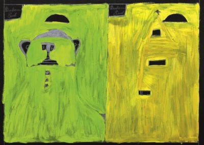 Paul Duhem, 1997, crayon blanc, pastel gras et peinture à l'huile sur papier, 55 x 72 cm