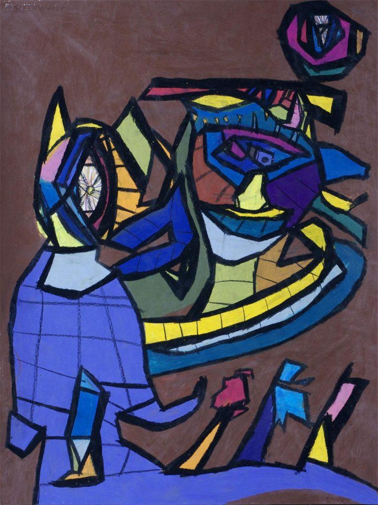 Danièle Caron, Sans titre, 2005, pastel gras sur papier, 73 x 55 cm