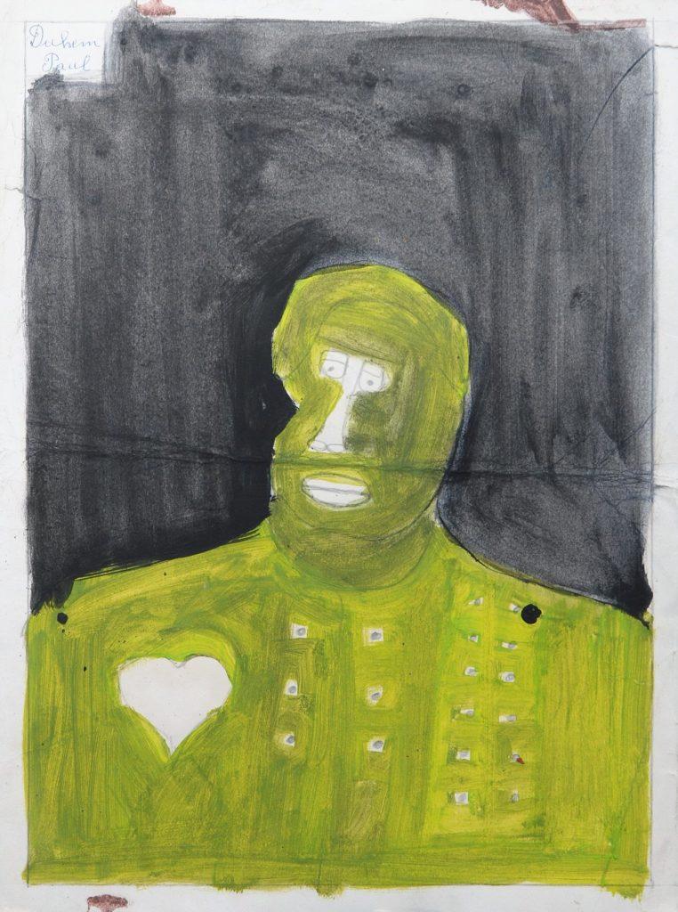 Paul Duhem, sans titre, 1996, peinture à l'huile sur papier sur papier, 40 x 30 cm