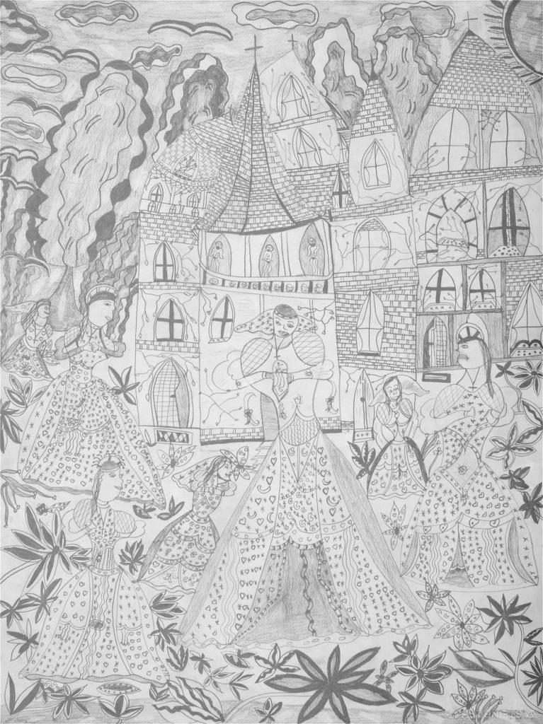 Christelle Hawkaluk, sans titre, 2005, crayon gris sur papier, 73 x 55 cm