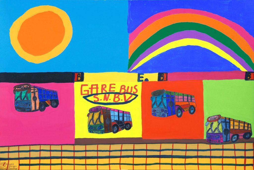 Georges Duesberg (Jojo Aimé), sans titre, 1992, gouache sur papier, 36,5 x 55 cm