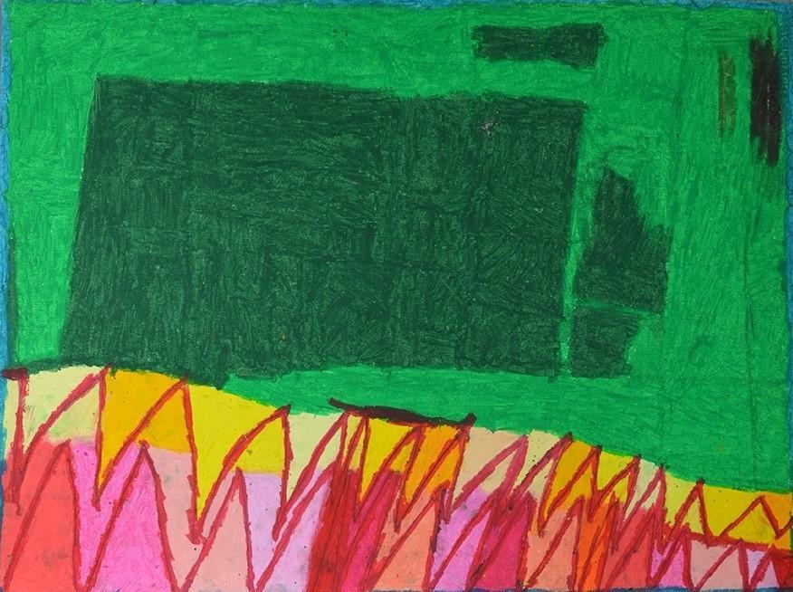 Chantal Gontarczyk, sans titre, nd, pastel à l'huile sur papier, 55 x 73 cm
