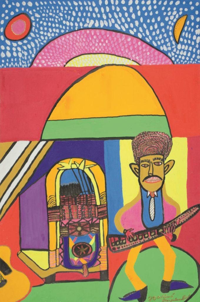 Georges Duesberg (Jojo Aimé), sans titre, 1992, gouache sur papier, 55 x 36,5 cm
