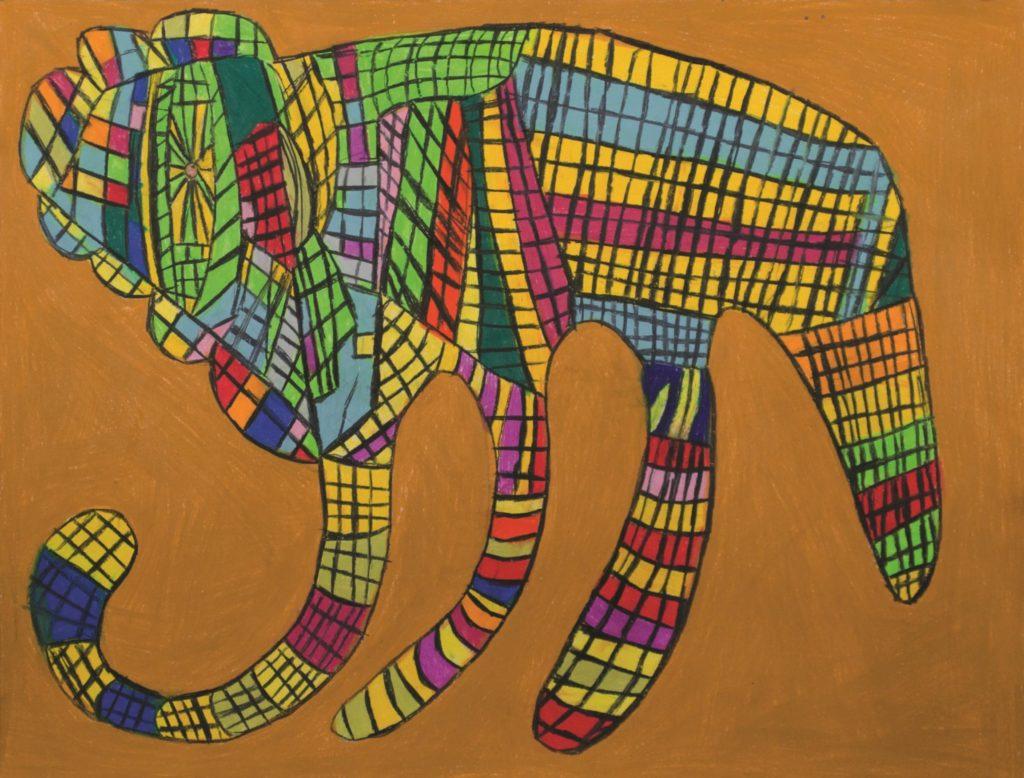 Danièle Caron, Sans titre, nd, pastel gras sur papier, 55 x 73 cm_1
