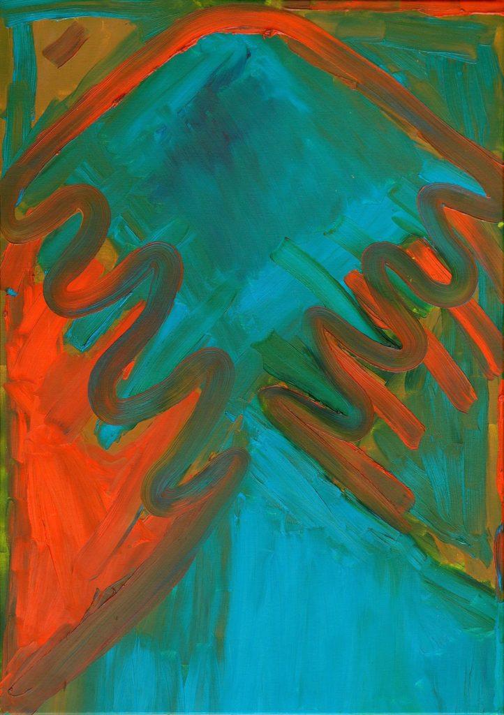 François Defontaine, Sans titre, 2000, peinture à l'huile sur toile, 100 x 70 cm