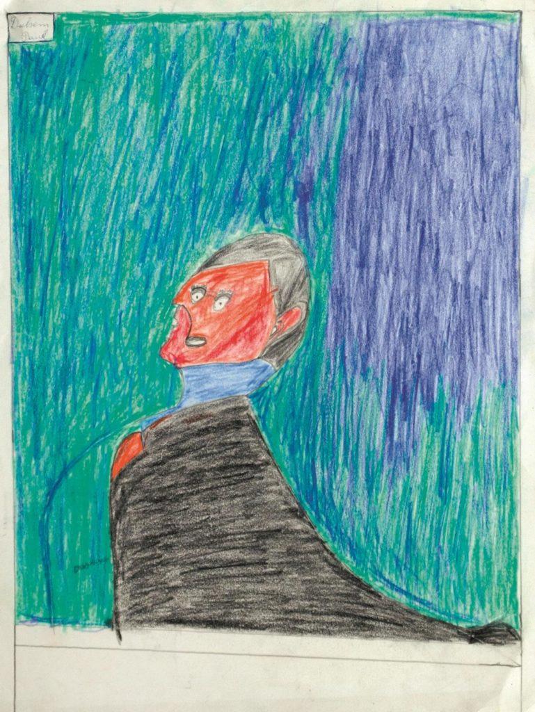 Paul Duhem, sans titre, 1993, crayons de couleur sur papier, 47,5 x 35 cm