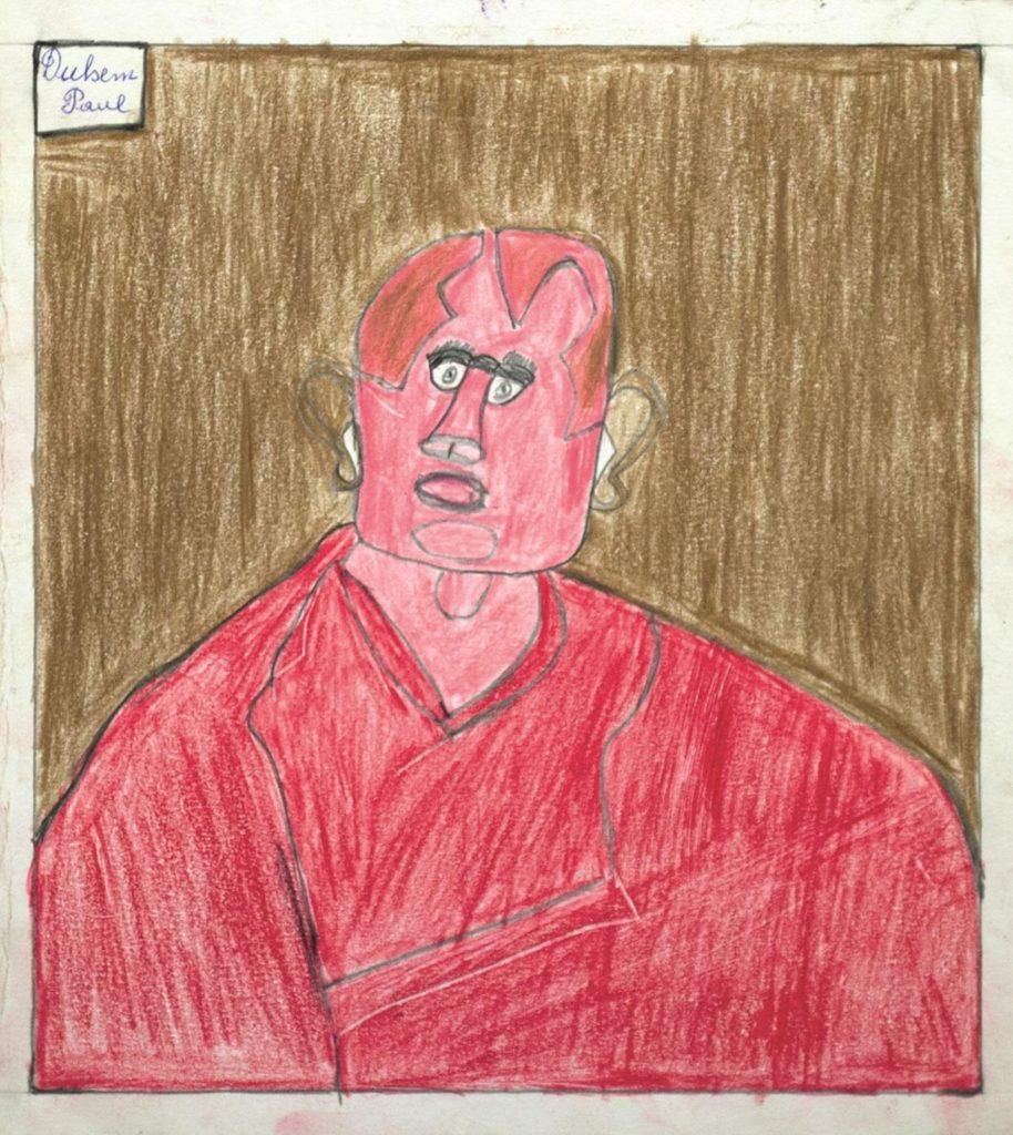 Paul Duhem, sans titre, 1992, crayon de couleur sur papier, 29,5 x 27,5 cm