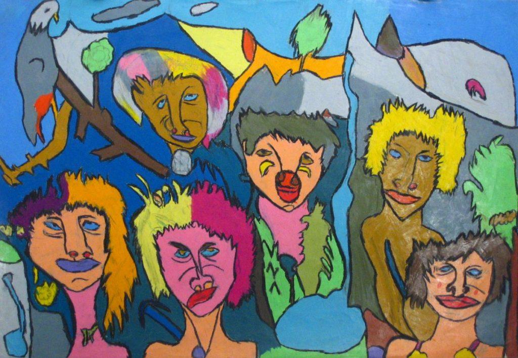 Jean-Jacques Bonnier, Sans titre, 1997, pastel gras sur papier, 55 x 73 cm_1