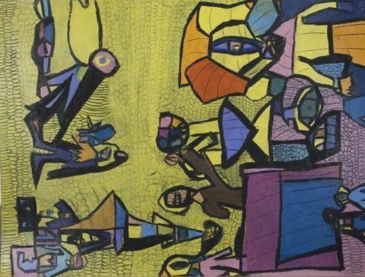 Danièle Caron, Sans titre, nd, pastel gras sur papier, 73 x 55 cm
