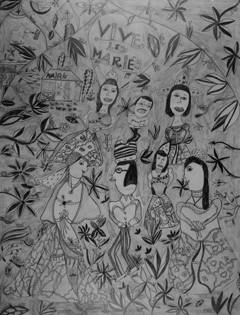 Christelle Hawkaluk, sans titre, nd, crayon gris sur papier, 73 x 55 cm