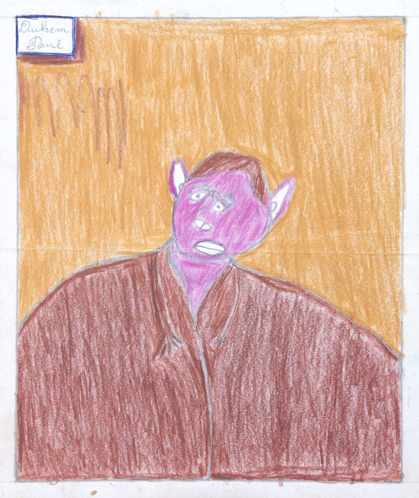 Paul Duhem, sans titre, 1991, crayons de couleur sur papier, 32,5 x 27,5 cm