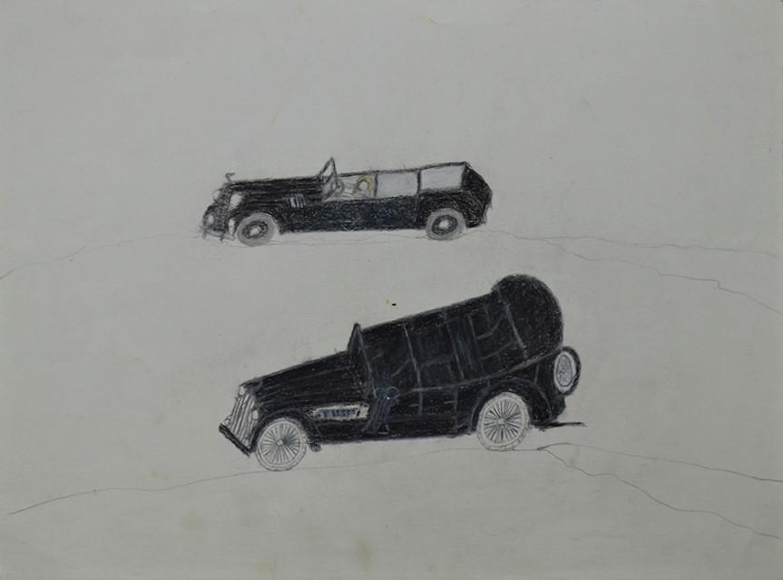 Oscar Haus, sans titre, nd, crayons de couleur sur papier, 15 x 21 cm