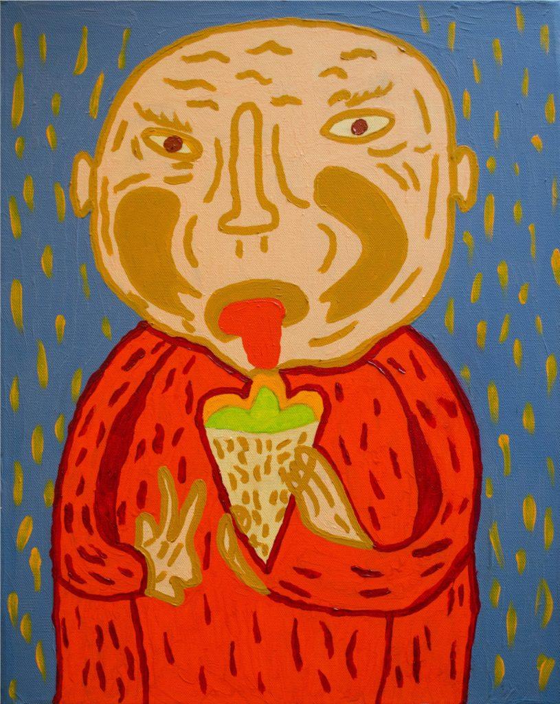 Jean-Michel Wuilbeaux, Sans titre, nd, huile sur toile, 50 x 40 cm