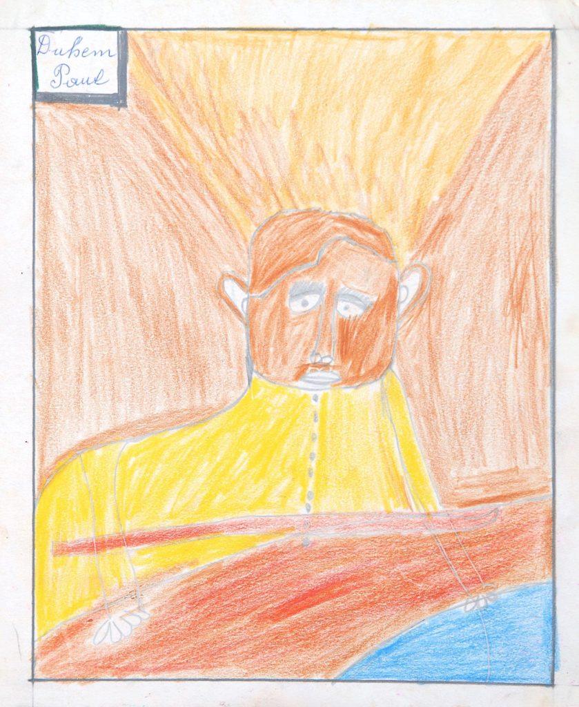 Paul Duhem, sans titre, 1991, crayons de couleur sur papier, 31,5 x 25,5 cm