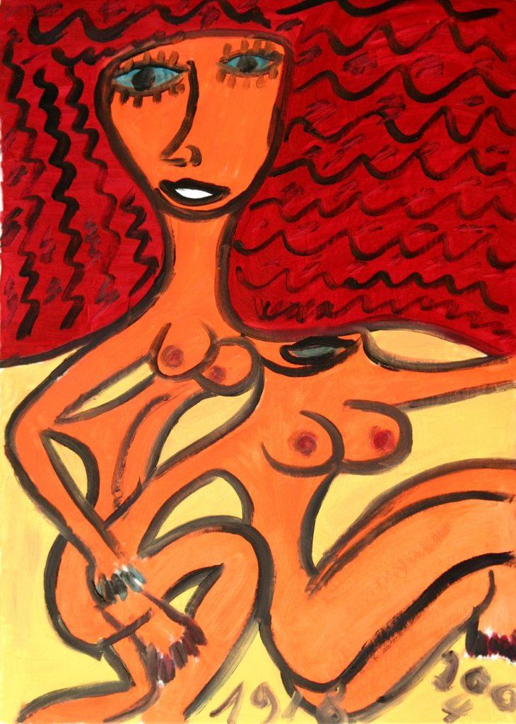 Hugues Joly, sans titre, 2004, peinture à l'huile sur toile, 70 x 100 cm
