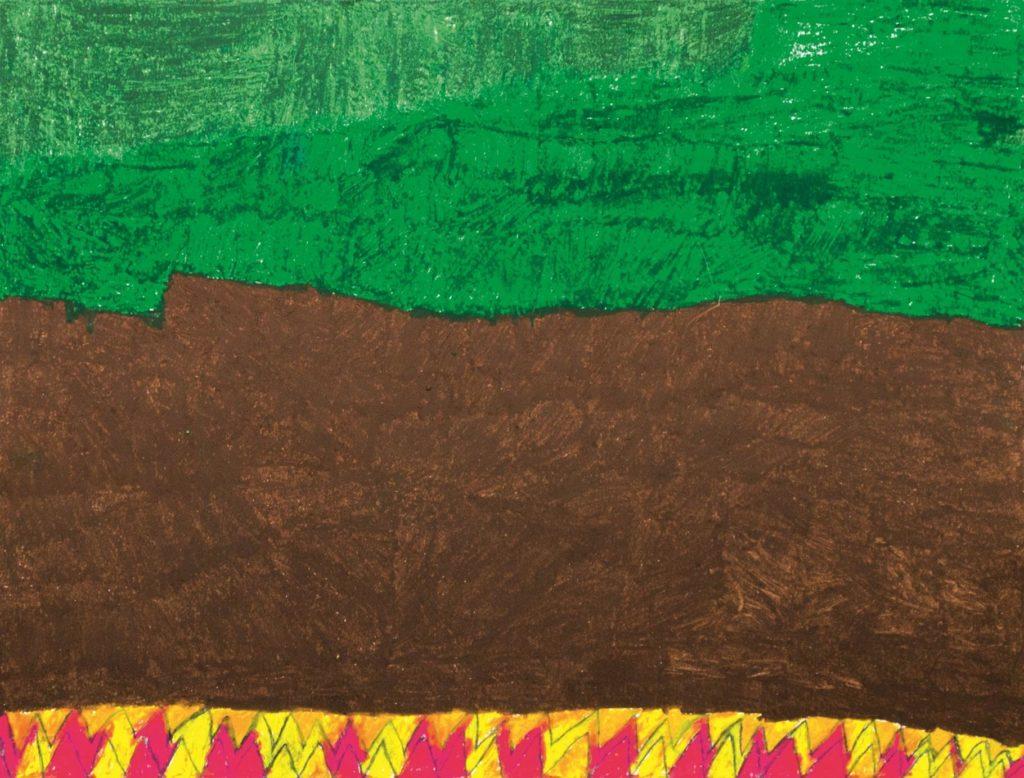 Chantal Gontarczyk, sans titre, 2014, pastel à l'huile sur papier, 55 x 73 cm