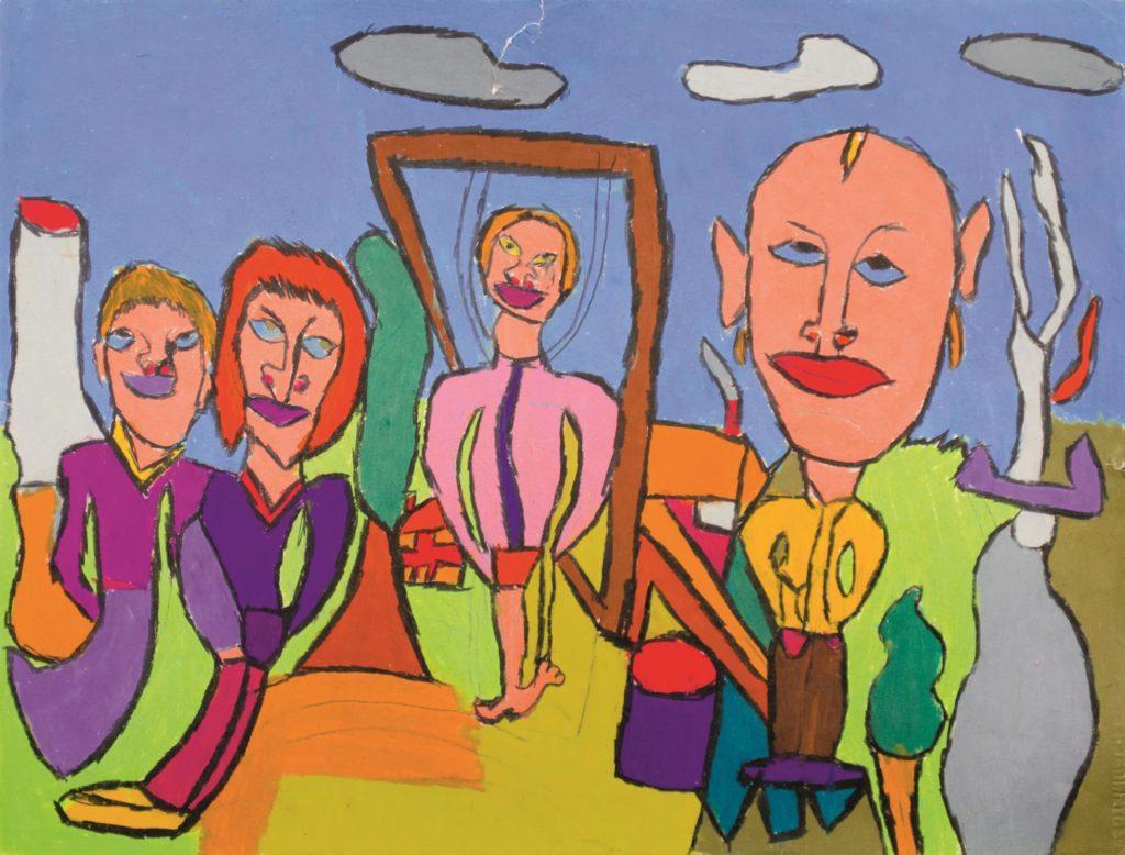 Jean-Jacques Bonnier, Sans titre, 2013, pastel gras sur papier, 55 x 73 cm_1
