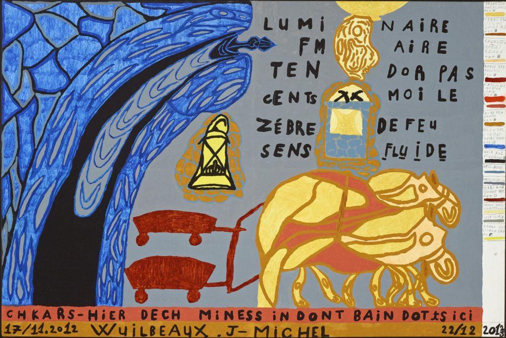 Jean-Michel Wuilbeaux, Sans titre, 2012, huile sur toile, 100 x 150 cm