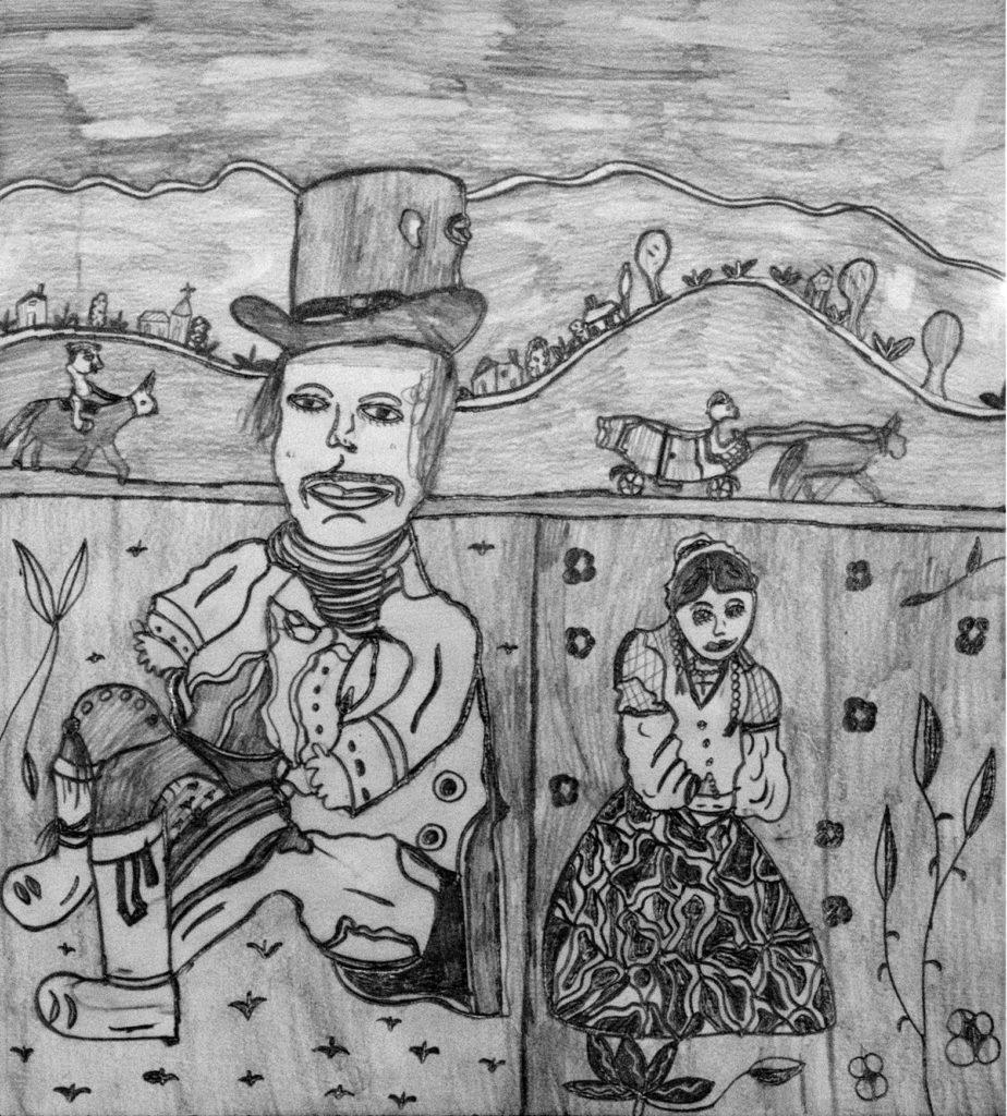 Christelle Hawkaluk, sans titre, 2009, crayon gris sur papier, 36,5 x 33 cm