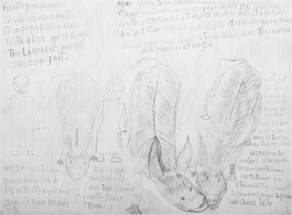 Michel Van Praet, sans titre, 2004, crayon gris sur papier, 55 x 73 cm