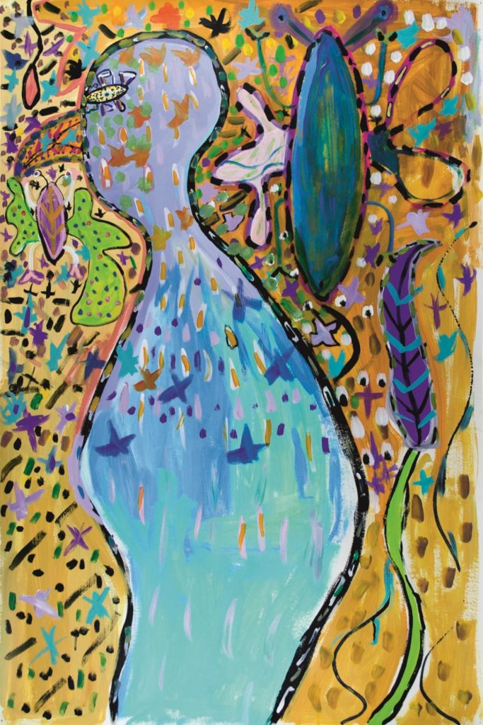Vincent Feneyrou, sans titre, 2014, peinture acrylique sur papier, 110 x 73 cm