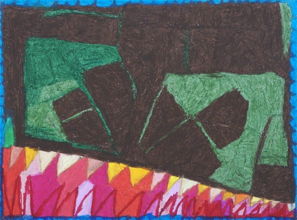 Chantal Gontarczyk, sans titre, 2008, pastel à l'huile sur papier, 55 x 73 cm