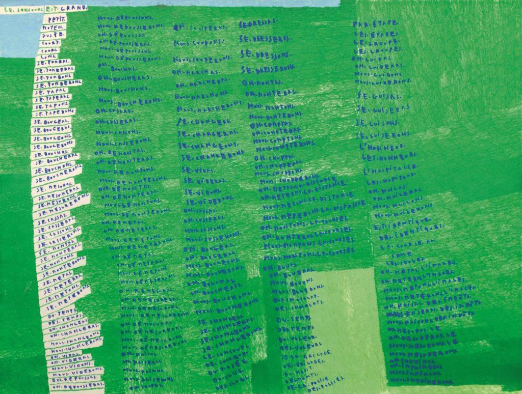 Michel Dave, Sans titre, 2011, marqueurs acrylique sur papier, 55 x 73 cm