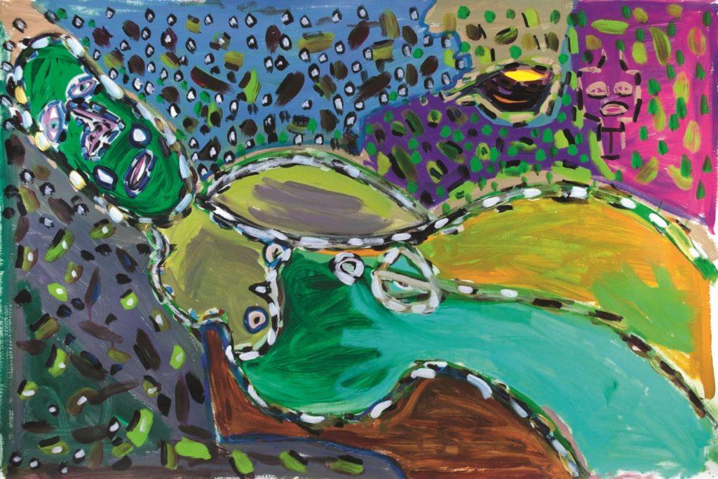 Vincent Feneyrou, sans titre, 2014, peinture acrylique sur papier, 73 x 110cm
