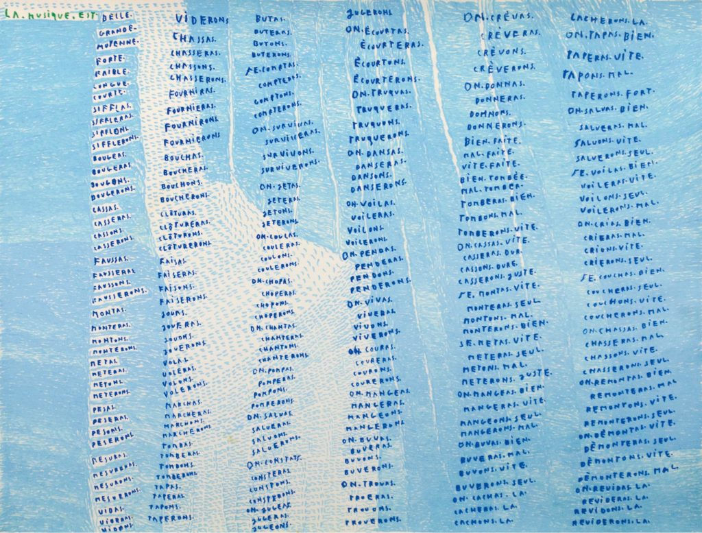 Michel Dave, Sans titre, 2010, marqueurs acrylique sur papier, 55 x 73 cm