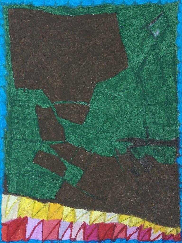 Chantal Gontarczyk, sans titre, 2008, pastel à l'huile sur papier, 73 x 55 cm