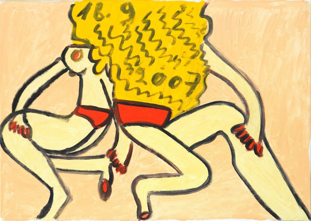 Hugues Joly, sans titre, 2007, peinture à l'huile sur toile, 70 x 100 cm