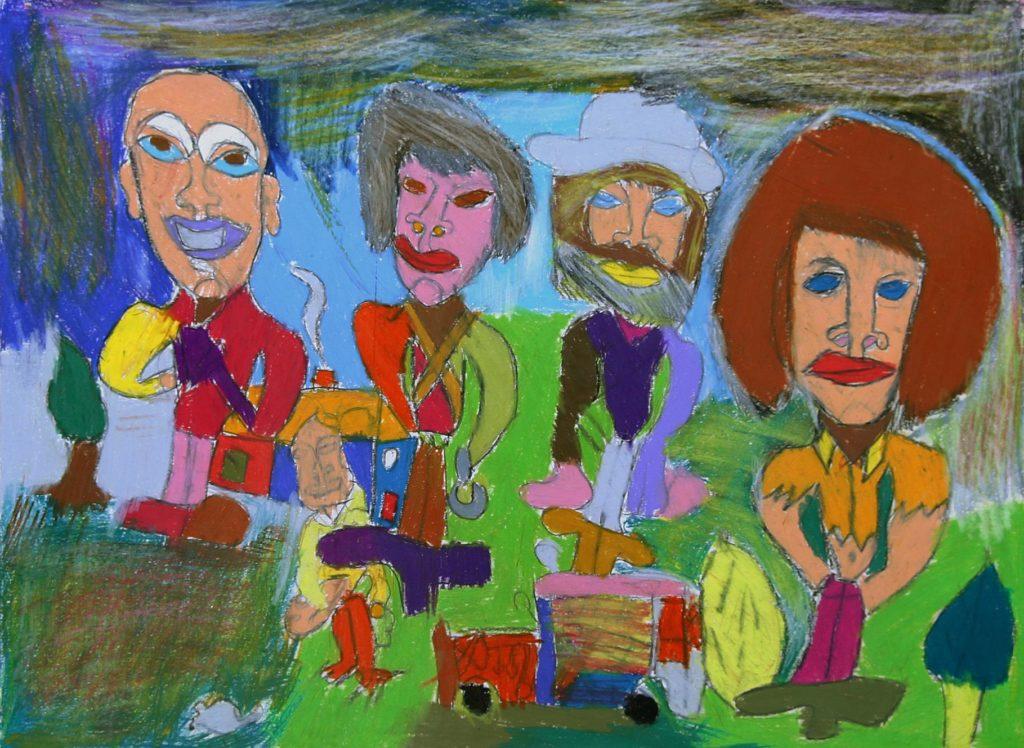 Jean-Jacques Bonnier, Sans titre, 2008, pastel gras sur papier, 55 x 73 cm_1
