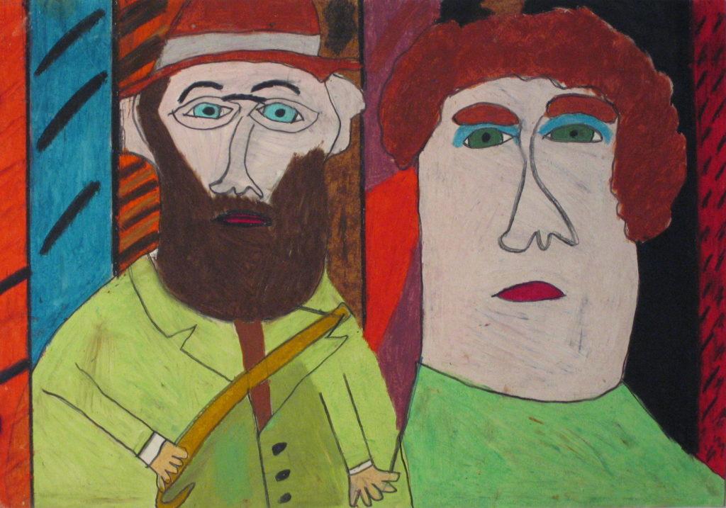 Michel Beauthier, sans titre, nd, pastel à l'huile, 55 x 73cm