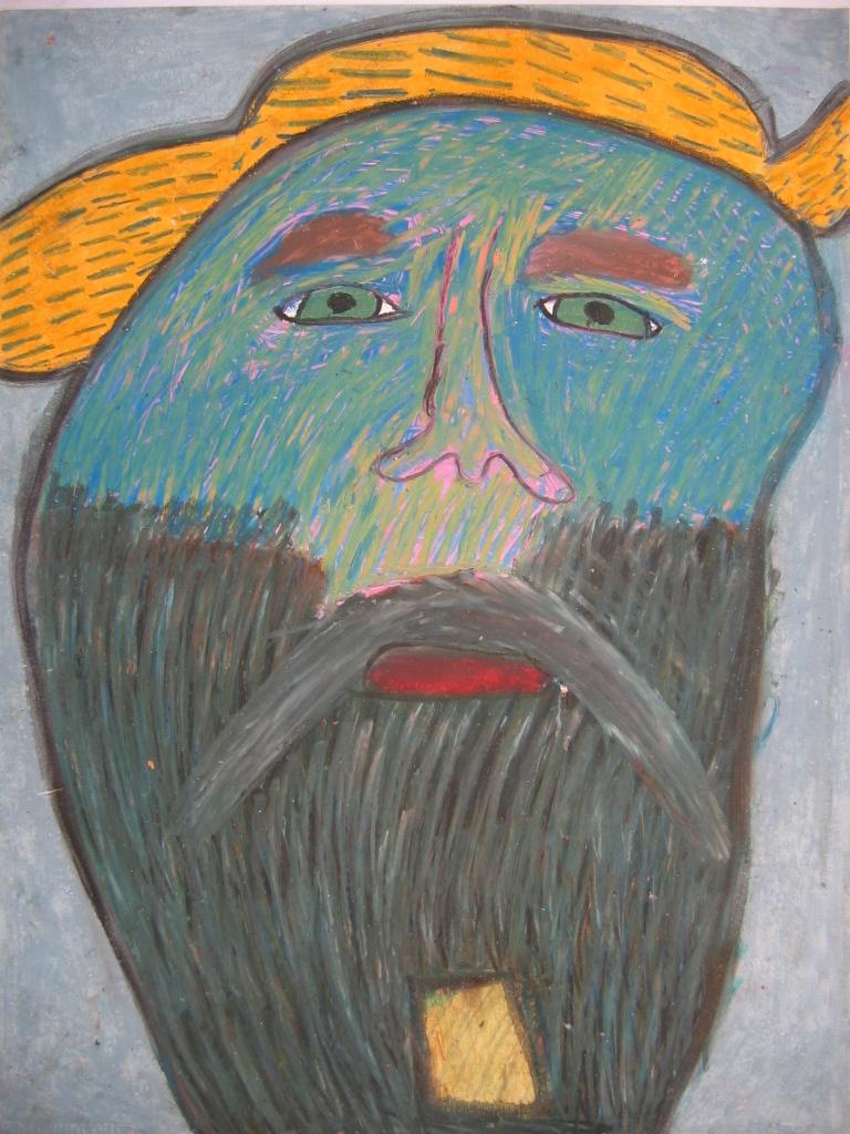 Michel Beauthier, sans titre, nd, pastel à l'huile, 73 x 55cm