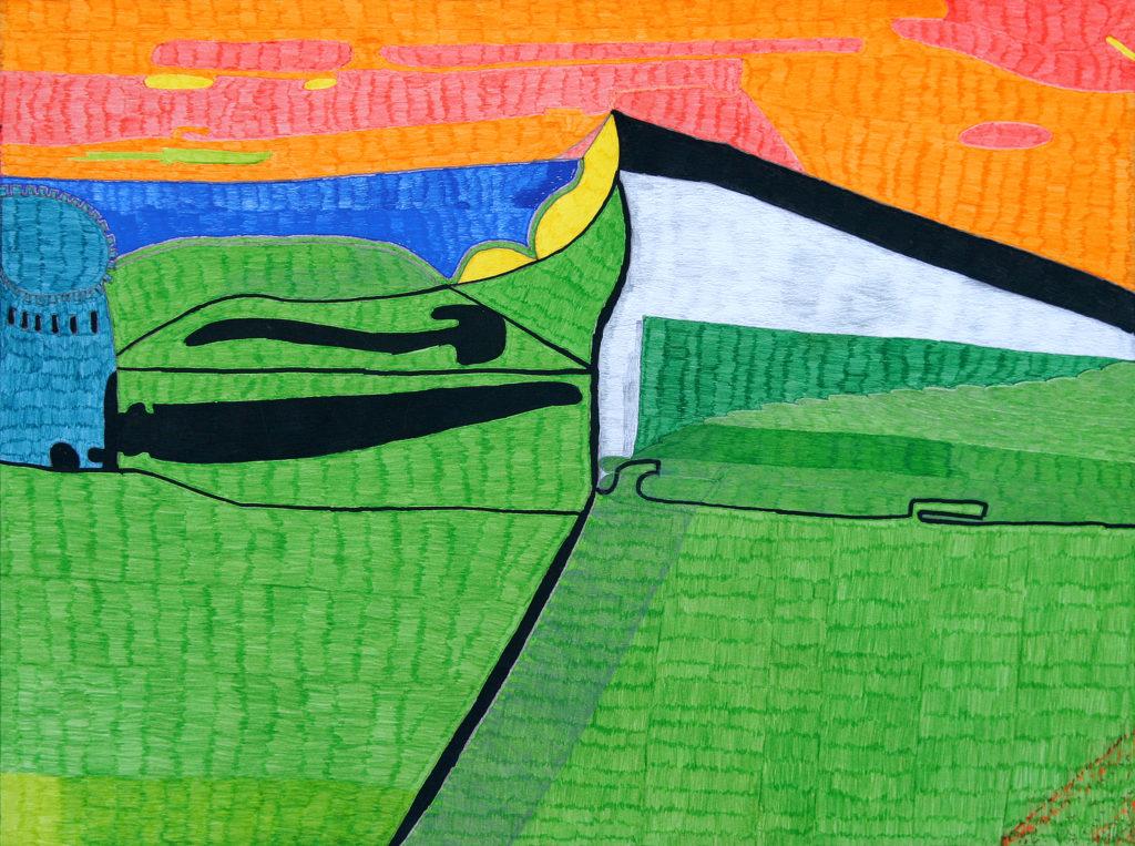 Georges Cauchy, Sans titre, 2003, marqueur sur papier, 55 x 73 cm