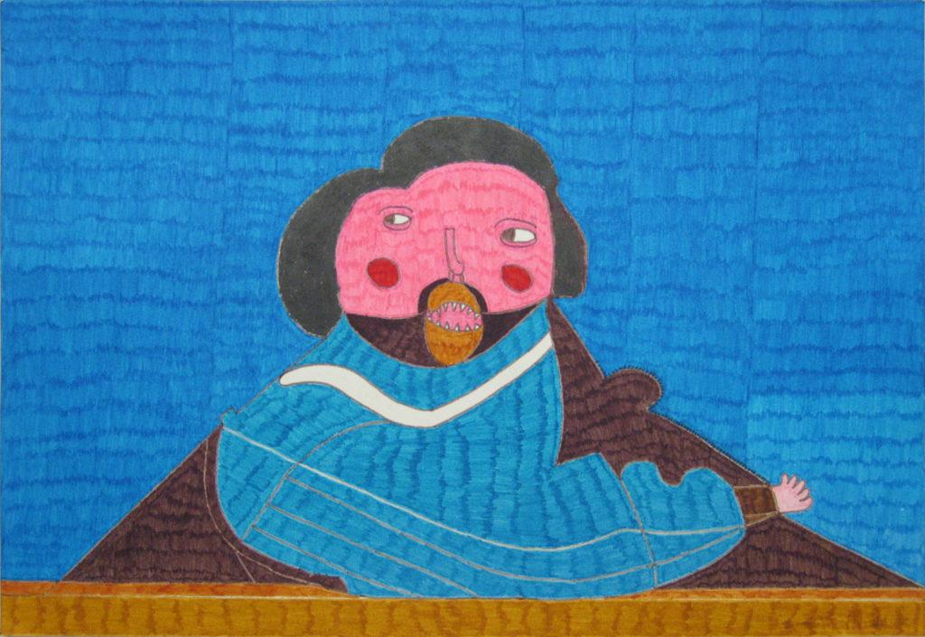 Georges Cauchy, Sans titre, 2000, marqueur sur papier, 36,5 x 55 cm