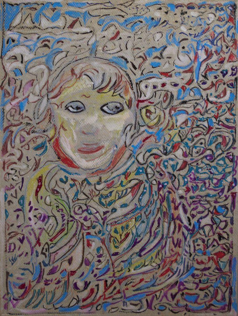 Martha Grünenwaldt, sans titre, nd, dessin au crayon gris, crayons de couleur et gouache sur carton, 35,5 x 26,5