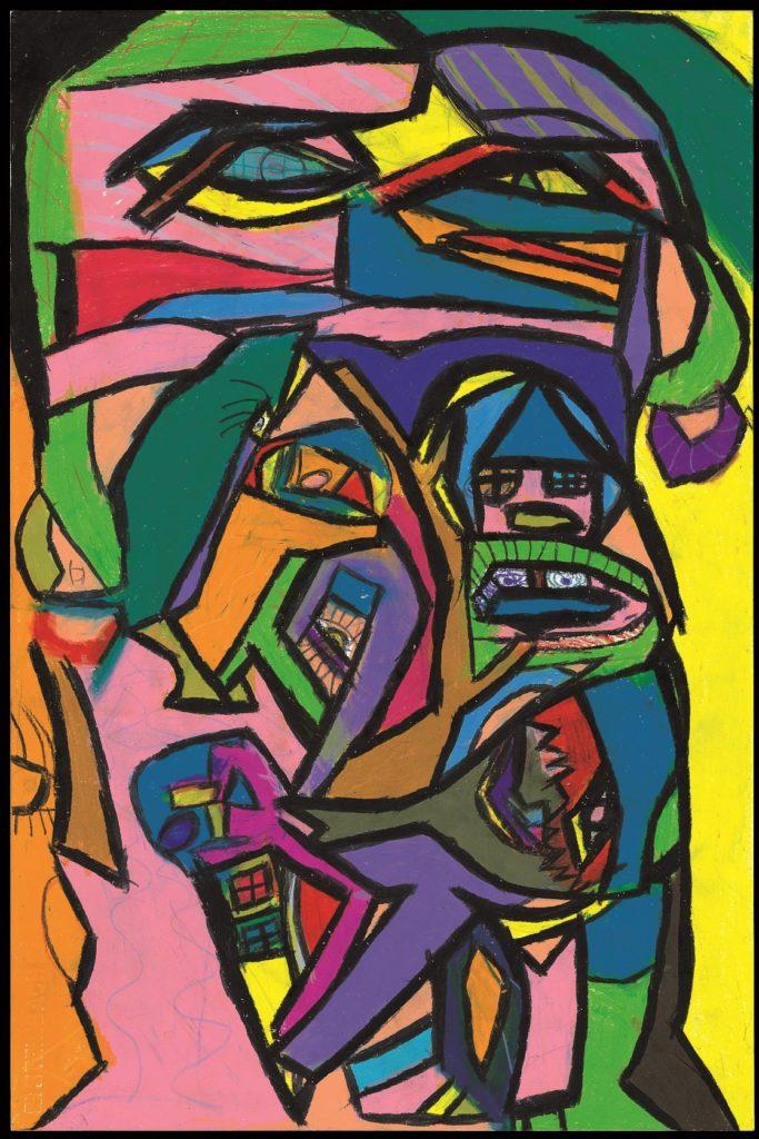 Danièle Caron, Sans titre, nd, pastel gras sur papier, 55 x 73 cm