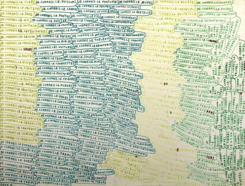 Michel Dave, Sans titre, 1996, marqueurs sur papier, 55 x 73 cm