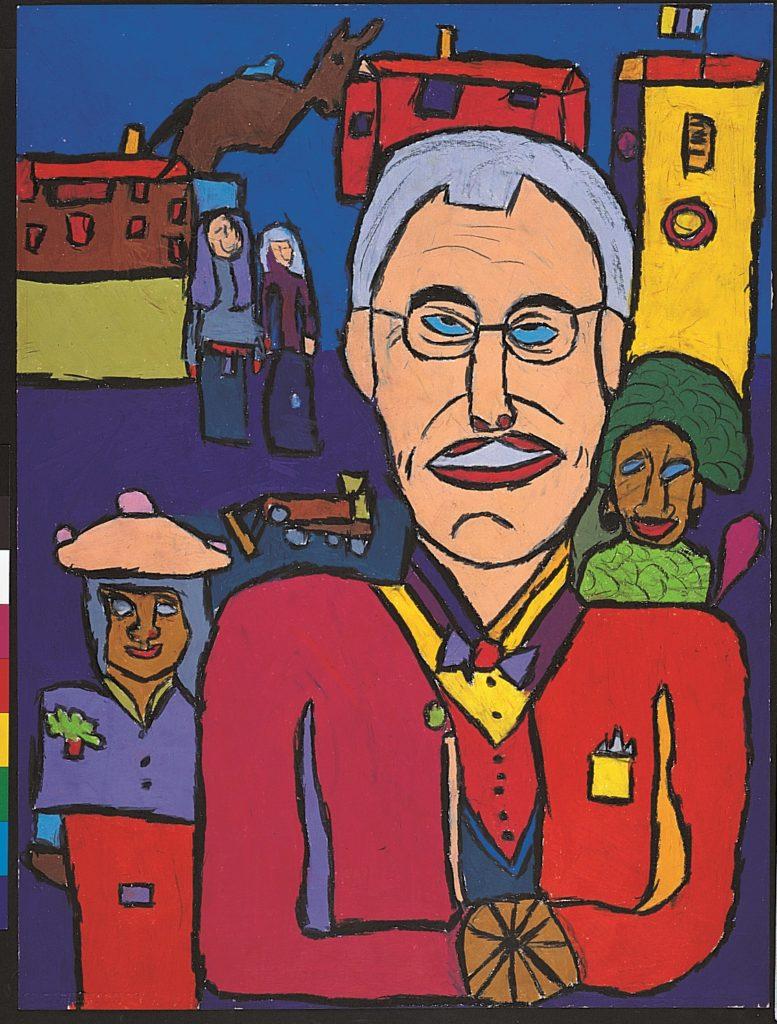 Jean-Jacques Bonnier, Le Folklore athois, 1998, pastel gras sur papier, 73 x 55 cm
