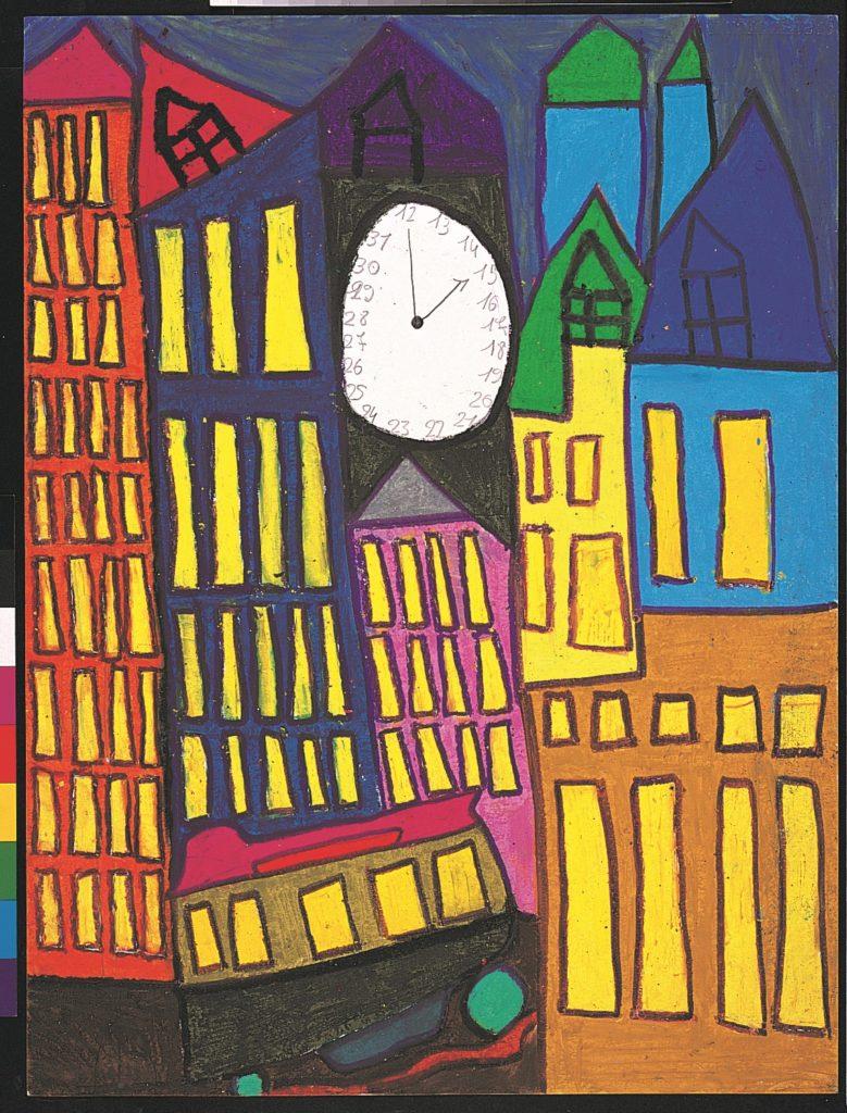 Michel Beauthier, sans titre, 1995, pastel à l'huile sur papier, 73 x 55cm