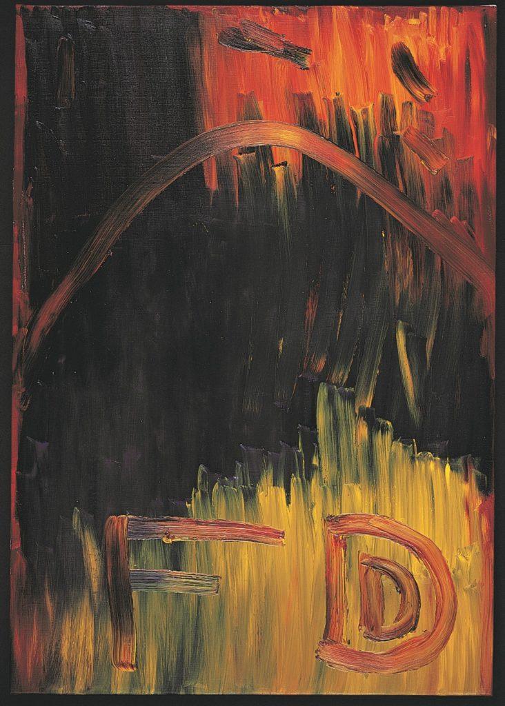 François Defontaine, Sans titre, 2000, huile sur toile, 103 x 72 cm