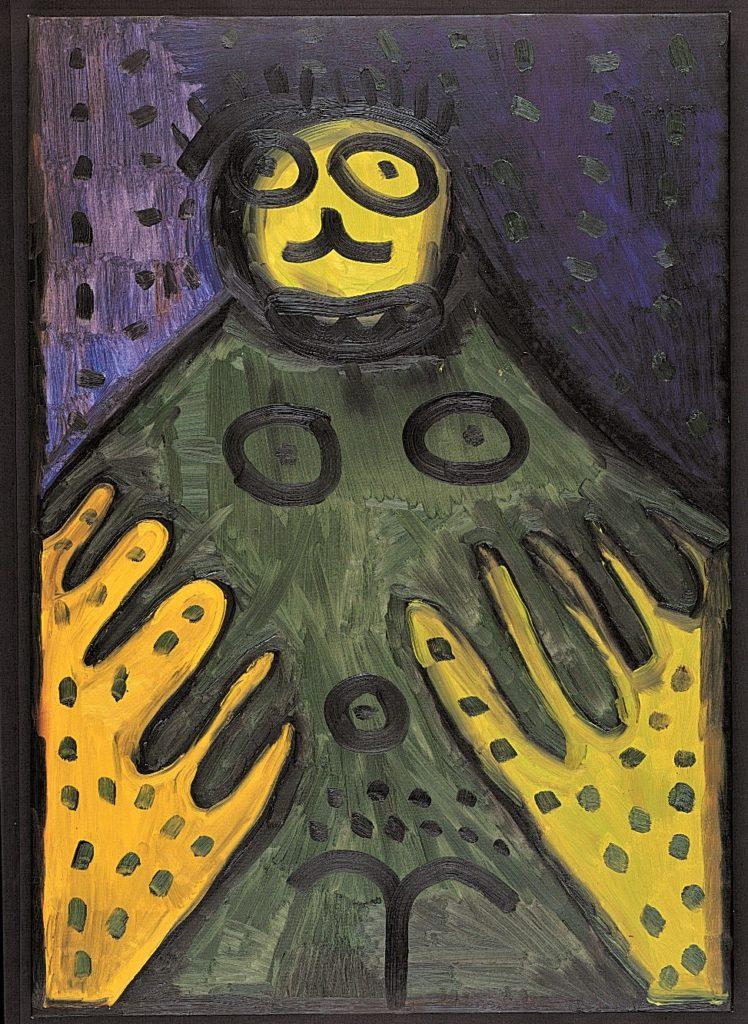 François Defontaine, Sans titre, 1999, peinture à l'huile sur toile, 100 x 70 cm